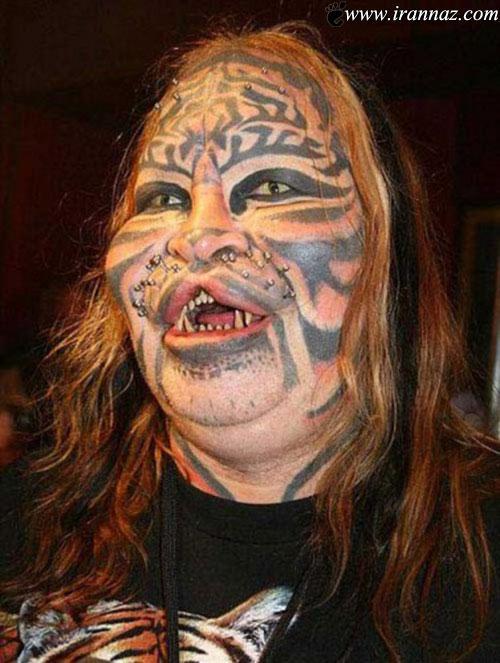 این زن دیوانه هزاران دلار خرج کرد تا زشت شود (عکس)