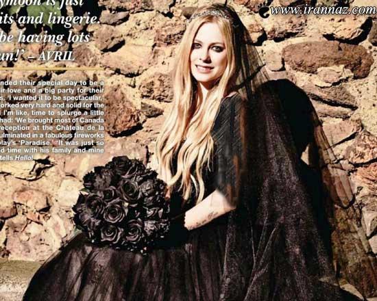 این خواننده برای ازدواج دومش لباس سیاه پوشید!!