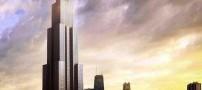 ساخت بلندترین آسمان خراش دنیا در نود روز (عکس)