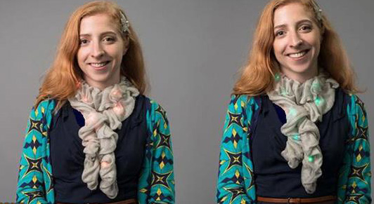 طراحی یک دستمال گردن جالب با قدرت تغییر رنگ!!