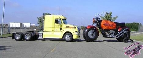 عکسهایی از موتورسیکلت های عجیب و غول پیکر