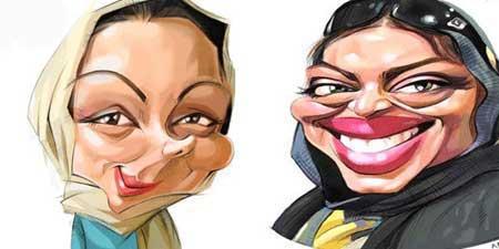 کاریکاتورهای بسیار جالب و خنده دار از بازیگران ایرانی