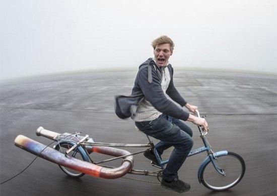 خطرناک ترین و مهیج ترین دوچرخه ی جهان (عکس)
