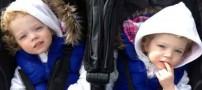 هیجان زدگی جان این دو خواهر زیبا را میگیرد!! (عکس)