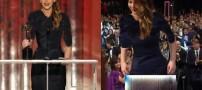 سوتی جالب این خانم بازیگر در جشنواره فیلم (عکس)