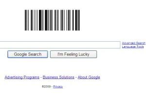 لوگوی گوگل به شکل بارکد شد!!