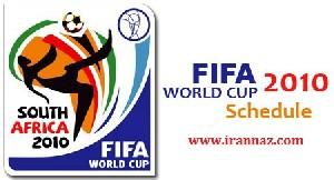 جدول مسابقات جام جهانی ۲۰۱۰برای موبایل