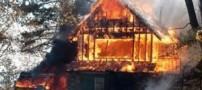 مرد عصبانی خود و خانوادهاش را به آتش کشید