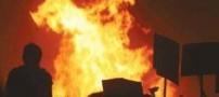 آتش زدن شهرداری بابل توسط افراد ناشناس