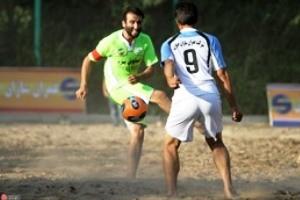 پیروزی فوتبال ساحلی ایران در مقابل لبنان