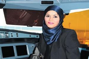 کلثوم نخستین خلبان زن هواپیمای مسافربری!!