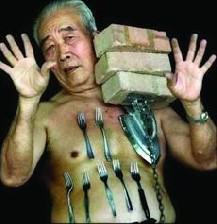 نیروی خارق العاده و باور نکردنی مرد چینی !!