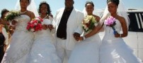 ازدواج همزمان مردی با چهار دختر (+عکس)