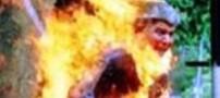 جان باختن مردی ایرانی که اقدام به خود سوزی کرده بود