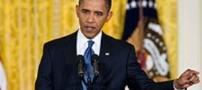 زنی که سخنرانی اوباما را با آوازخوانی قطع کرد