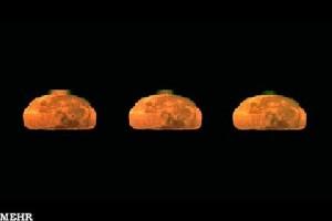 درخشش نوری سبز بر فراز کره ماه+عکس