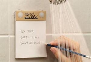 ابداع دفترچه ضد آب برای یادداشت ایده ها در حمام