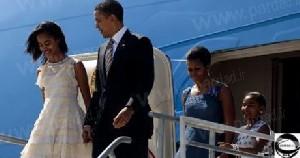 شوخی عجیب اوباما با دخترانش