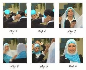 ترفندی بسیار جالب برای پوشیدن روسری +تصاویر