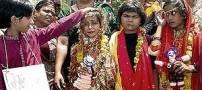 مراسم ازدواج عجیب دو دختر با قورباغه+ عکس