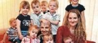 زنی که در 30سالگی یازدهمین فرزندش به دنیا آمد