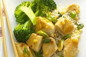 طرز تهیه خوراک مرغ و برنج رژیمی