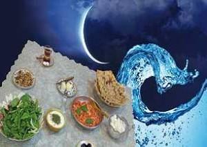 افطاری  شام را جداگانه سرو کنید