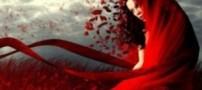 این خانم با لباس قرمز رنگ خود نماد عشق تهران شد