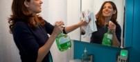 به راحتی آینه غبار گرفته حمام تان راتمیز کنید