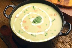 طرز تهیه سوپ جو با سیر کباب شده
