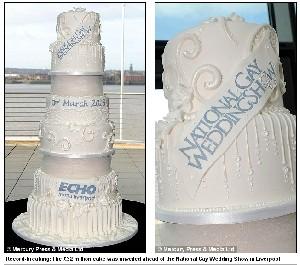 گران ترین کیک دنیا برای ازدواج دو همجنسگرا (عکس)