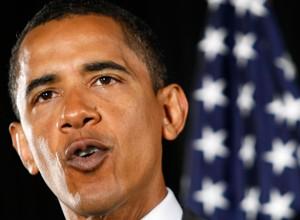 ترس و لرز اوباما از زنش به دلیل جای رژلب روی یقه اش!
