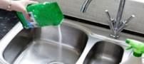 اینگونه سینک ظرفشویی خود را برق بیندازید