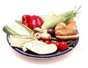 كباب كردن سبزیجات