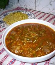 روش طبخ خورش لوبیا سبز