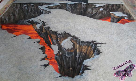 عکسهایی از آثار هنری فوق العاده کف خیابان!