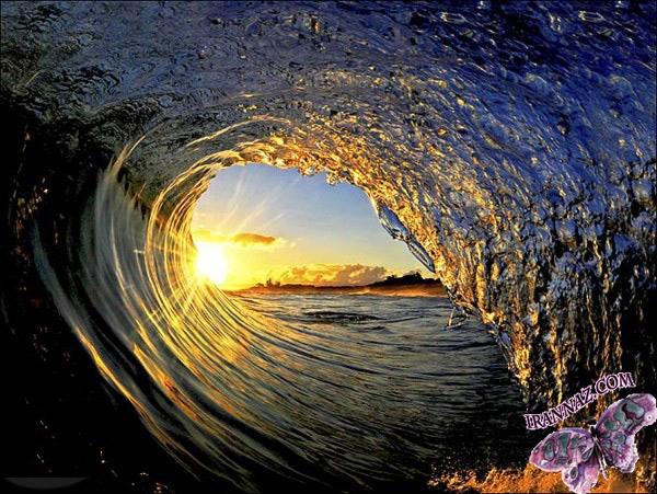 عکسهایی دیدنی از امواج زیبای دریا