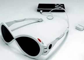 شارژ موبایل با عینک آفتابی!!