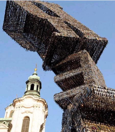 ساخت مجسمهای با 85 هزار کلید