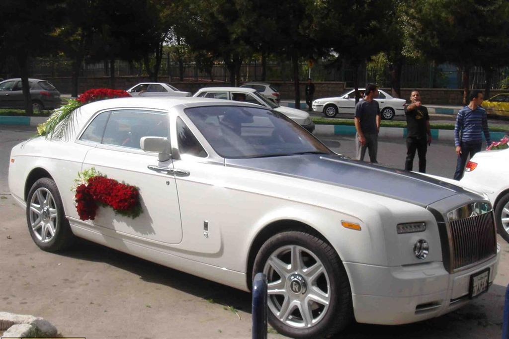 عکس گران قیمت ترین ماشین عروس ایران!!