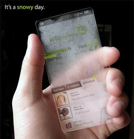 موبایلی که در شرایط مختلف آب و هوایی خودش را تغییر می دهد !!