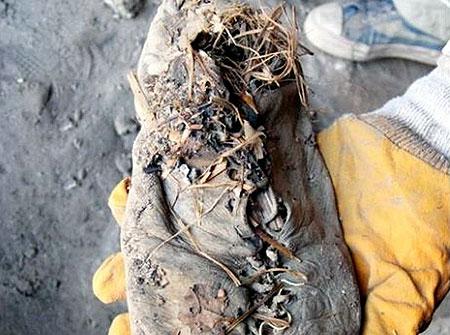 عکسهایی از کفش 5500 ساله کشف شده