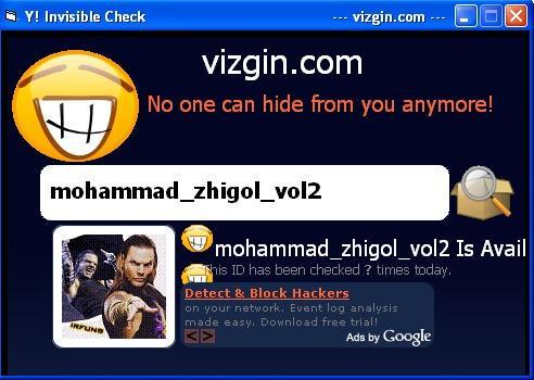 Yahoo Invisible Check(چک کردن وضعیت آیدی)