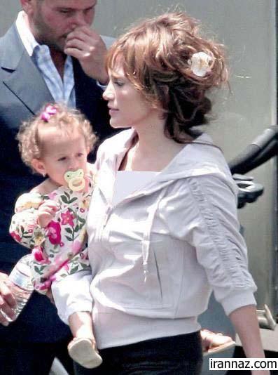 """عكسهایی از جنیفر لوپز همراه با دخترش """"امه"""""""
