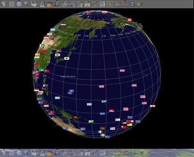 سطح زمین و زوم کردن بروی شهرها NASA World Wind