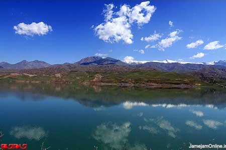 عکس هایی واقعا زیبا از دریاچه طالقان