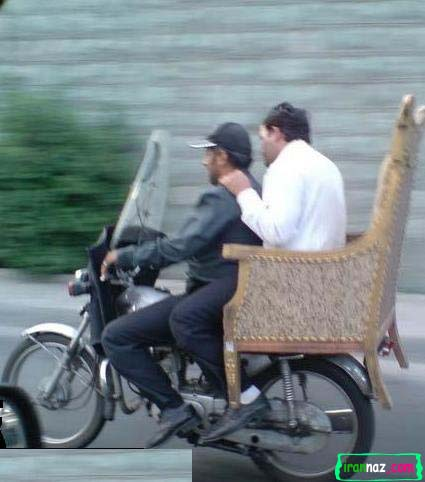 عکس از یک خلاقیت ایرانی در حمل و نقل!