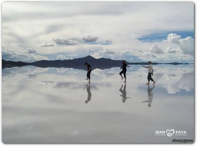 عکسهای بزرگترین آینه طبیعی در دنیا