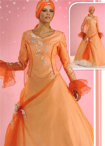 مدل های جدید لباس عروس اسلامی با حجاب