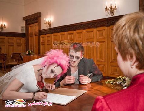 عکسهای ازدواج ترسناک یک دختر و پسر!!